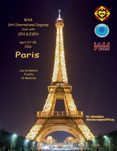 2016 WAA Congress Poster -- Paris April 27-29th